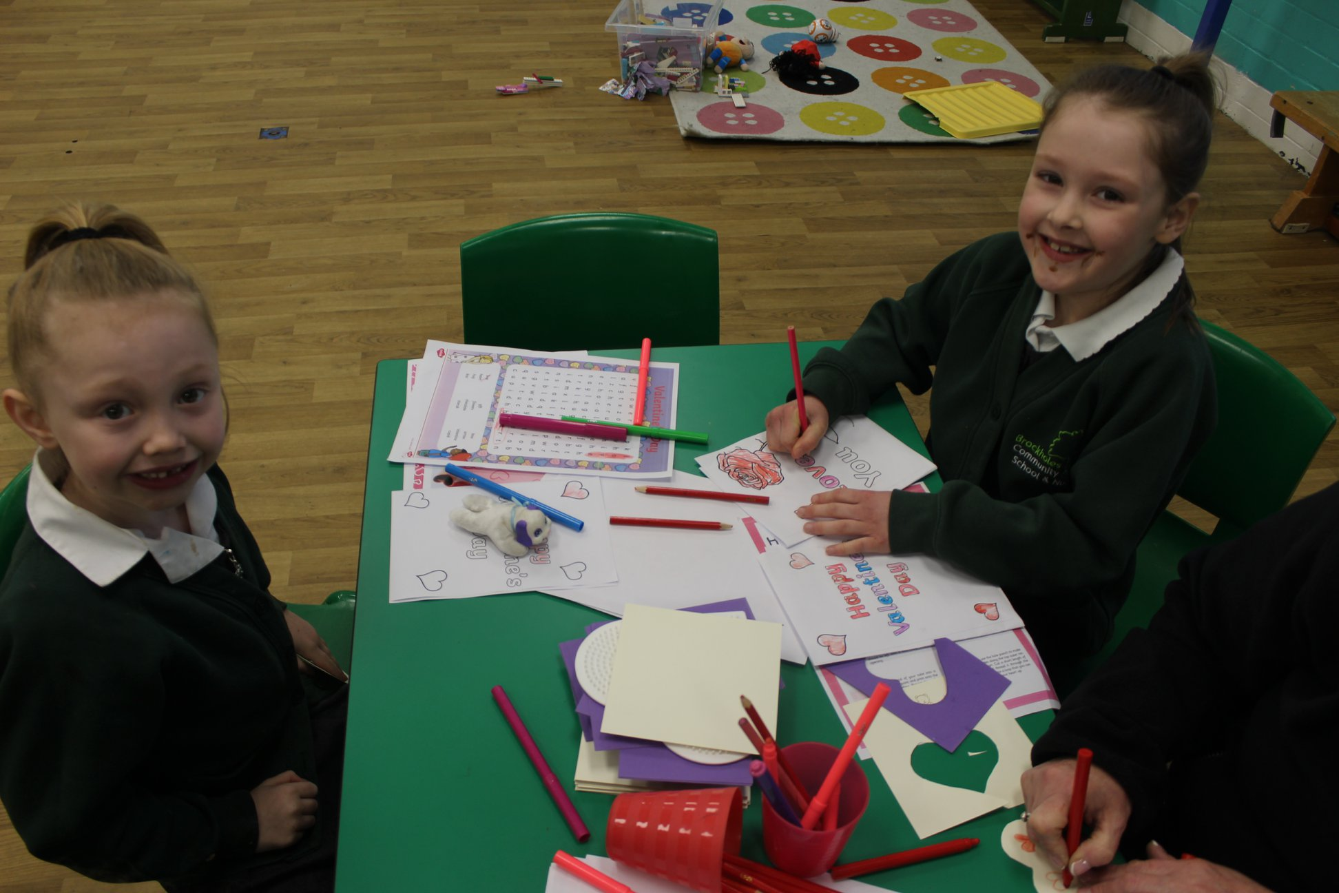 Colouring activities valentines day