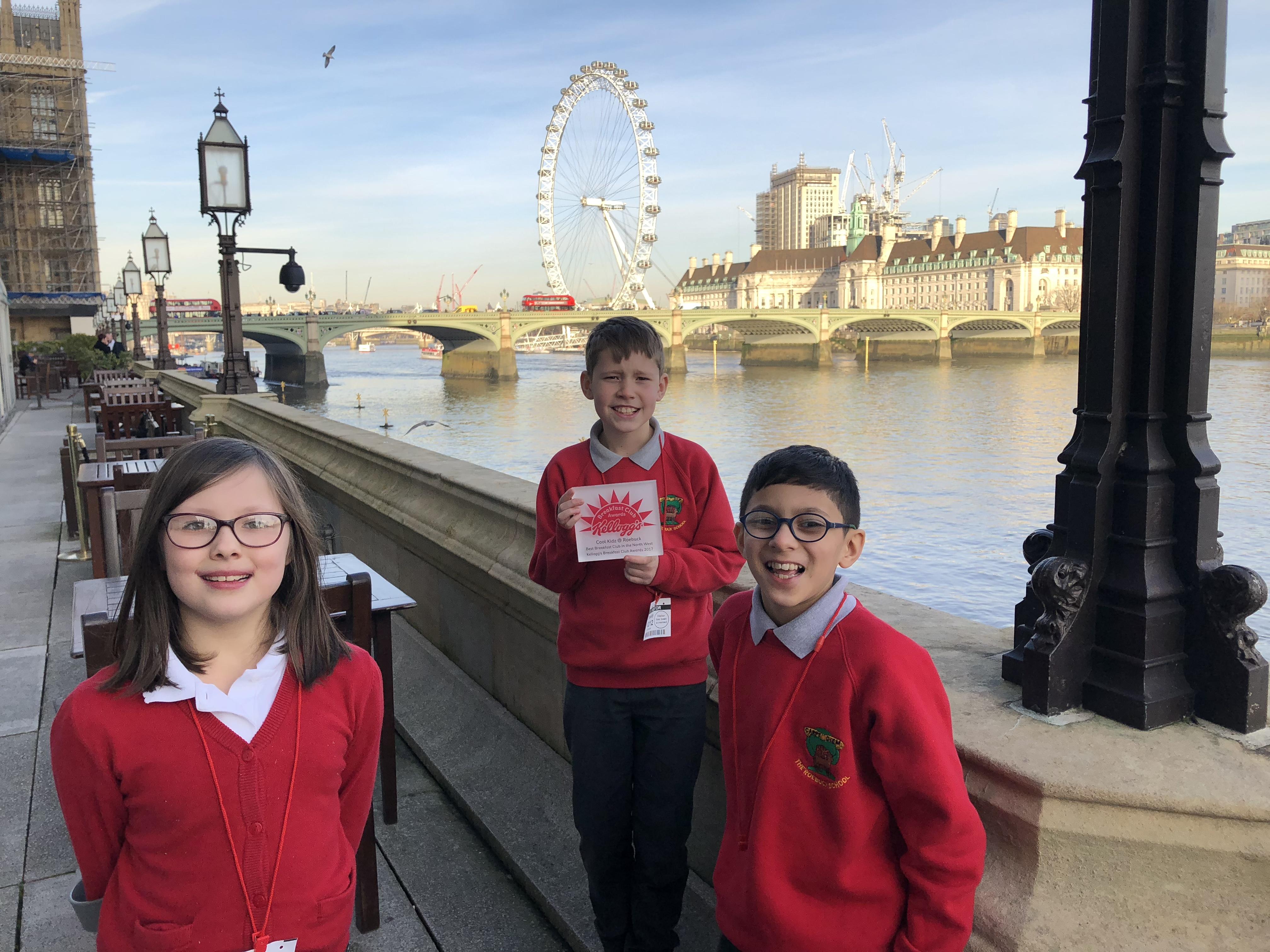 Cool Kidz Roebuck Breakfast Club award winners exploring London