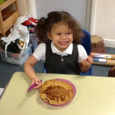 Enjoying pancake day