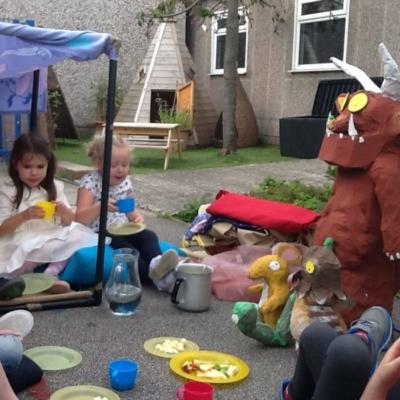 tea party with the gruffalo