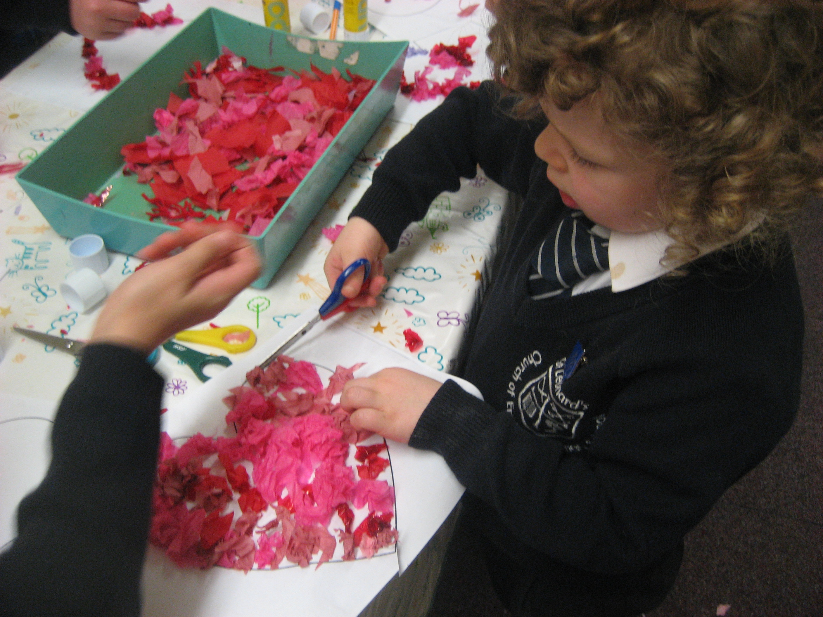 valentines day arts and craft making